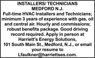 Installers/Technicians